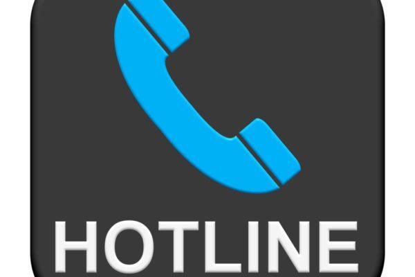 Black blue Button: Hotline